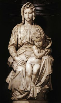 Madonna and Child 1 by Michelangelo Buonarroti, 1501-1505