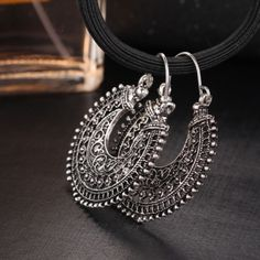 Your-Elegance-Large-Bohemian-Gypsy-Hoop-Earrings-US-Seller