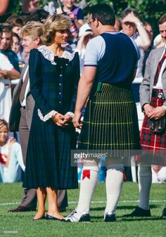 Diana Princess of Wales attends The Bute Highland Games on the Isle of Bute Scotland on August 22...