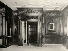 RMS Olympic's First Class Smoking Room.