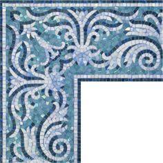 бордюр из мозаики,мозаичный бордюр на заказ,декорчики из мозаики,поребрик мозаичный