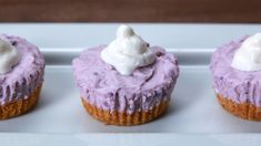 Mini Ube Cheesecake Super Easy No Bake Dessert Recipes - DIY To Make. How To Make Purple Yam Ube And Blueberry Tarts For # . Ube Cheesecake In 2019 Ube Cheesecake Recipe Cheesecake . Home and Family Ube Cheesecake Recipe, Japanese Cheesecake Recipes, Cheesecake Tarts, Ube Recipes, Tart Recipes, Baking Recipes, Dessert Recipes, Potato Recipes, Steak Recipes
