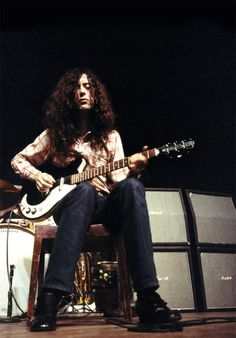 Jimmy Page performing at the KB Hallen in Copenhagen, Denmark. February 28, 1970.