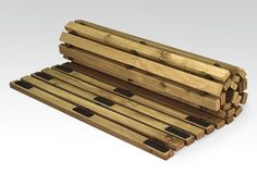 Bad - #Sauna #Vorleger Woody 65 x 115 cm