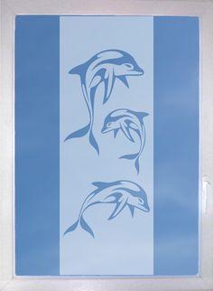 Delphinfamilie - Fenstertattoo - Milchglaseffekt von DesignOutOfNorm auf Etsy