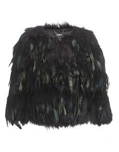 Kardashian Crop Feather Jacket