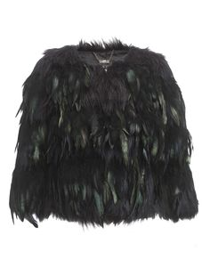 Kardashian Crop Feather Jacket