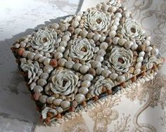 Shell Art Box made from vintage shells