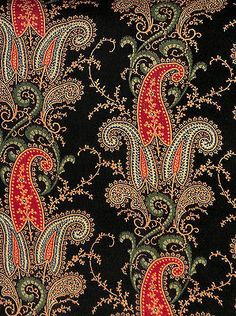 Antique-1840-Allover-Paisley-Wool-Fabric