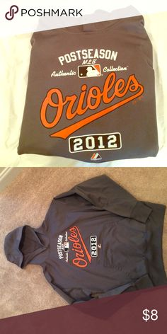Baltimore Orioles grey hoodie Grey Orioles hoodie. Missing drawstring but otherwise in perfect condition! Great for the baseball lover! MLB Shirts Sweatshirts & Hoodies