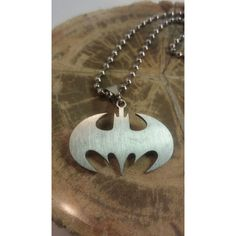Batman Necklace, Steel Batman Necklace, Batman Keychain, Stainless... ($4.87) ❤ liked on Polyvore featuring jewelry, necklaces, steel necklace, stainless steel jewelry, stainless steel jewellery, steel jewelry and stainless steel necklace