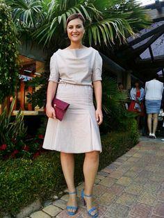 Elena González con el vestido 118 de burda style 04/2014