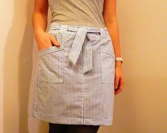 four square walls: prep skirt: from a sheet