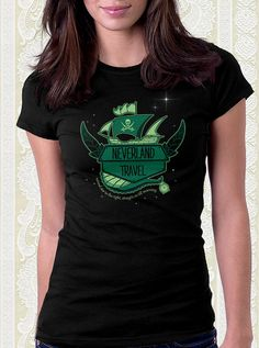 Peter Pan Neverland Travel Tshirt by FishbiscuitDesigns