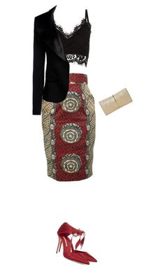 """""""pencil skirt"""" by divacrafts ❤ liked on Polyvore featuring Cameo Rose, Armani Collezioni, Manolo Blahnik, Nina Ricci and Original"""