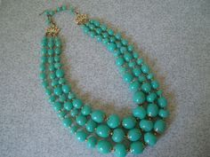 turquoise chunky necklace please