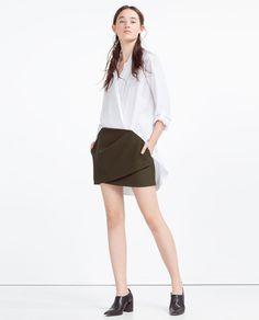 Image 1 of MINI DRAPED SKIRT from Zara