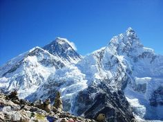 Sagarmatha National Park, Nepal: The classic view - Everest from Kala Pattar Places Around The World, Travel Around The World, Around The Worlds, Top Of Mount Everest, Climbing Everest, Mountain Pictures, Nepal Trekking, Top Of The World, Holiday Destinations