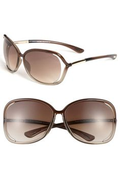 Tom Ford 'Raquel' 68mm Oversized Open Side Sunglasses available at #Nordstrom