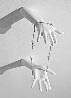 Hand Art. Oppression.