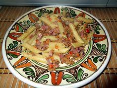 Penne cu smântână și gălbiori Paste, Pasta Salad, Cooking, Ethnic Recipes, Food, Crab Pasta Salad, Kitchen, Essen, Meals