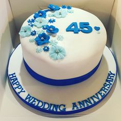 Cake Ideas For 45th Wedding Anniversary : 45th anniversary cake By muffy6969 on CakeCentral.com ...