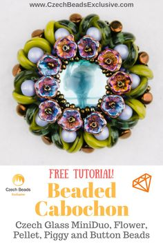 ? How about the challenge of creating an unusual, extremely elegant and beautiful beaded cabochon? You can easily manage it with the new Beaded Cabochon tutorial that we have prepared for you!� It may look difficult to repeat, but it is actually quite simple. Turn your beaded cabochon into a gemstone with a rich setting � the perfect stone for your brooch, beaded cabochon pendant or maybe even stylish cabochon earrings. Please yourself and your beloved with a beautiful beaded cabochon - all…