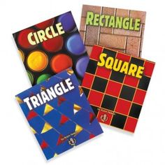 Circle, square, rectangle, and triangle, Basic Shapes books by Robin Nelson Available from MontessoriServices.com