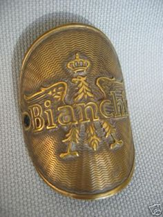 Bianchi Headbadge Brand:Bianchi Country:Italy Years:1920's; 1930's Found On:Vintage Lightweights VeloBase.com - Head Badge Gallery