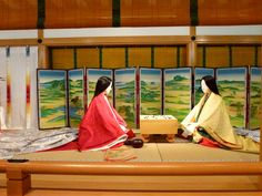 The Tale of Genji , is a masterpiece of Japanese literature attributed to the Japanese noblewoman Murasaki Shikibu in the early eleve. Japanese Literature, Japanese History, Japanese Culture, Japanese Art, Heian Era, Heian Period, Lady In Waiting, Japanese Interior, Museum Exhibition