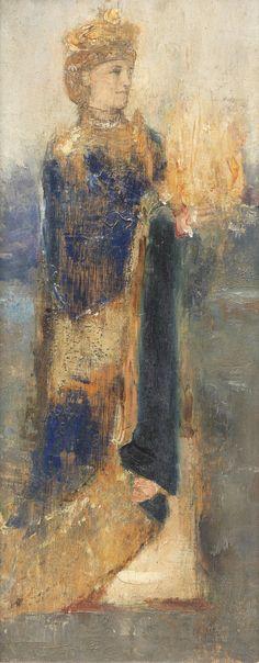 Fernand Khnopff – Magician. 1906 Belgium Symbolist
