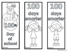 #FreebieFriday ~ #FREE Bookmarks for 100 Days of School!