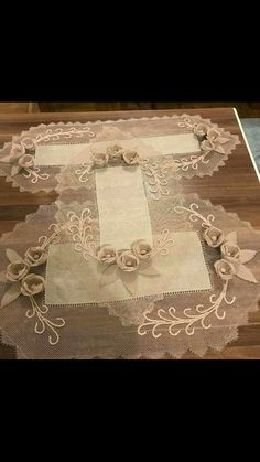 This Pin was discovered by Bah Jute Crafts, Diy And Crafts, Ribbon Embroidery, Embroidery Stitches, Needle Lace, Wedding Wishes, Crochet Designs, Needlework, Sewing Projects
