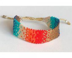 Beaded Braclets, Handmade Jewelry Bracelets, Woven Bracelets, Seed Bead Bracelets, Bijoux Diy, Seed Bead Jewelry, Diy Jewelry, Beaded Jewelry, Jewelery