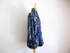 vintage kimono swing opera coat / satin smoking jacket trapeze brocade by sodafolk on Etsy https://www.etsy.com/listing/246666291/vintage-kimono-swing-opera-coat-satin