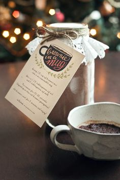 DIY Gift: Mug Brownie Mix