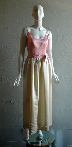 Items similar to / Early Debutant Silk Dress by Anne Klein for Junior Sophisticates on Etsy Hairspray, Anne Klein, Silk Dress, 1960s, Vintage Fashion, Etsy, Dresses, Silk Gown, Vestidos