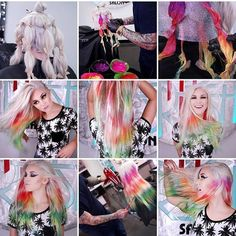 How to do tie-die with pravana!! You can go to the @pravana YouTube or the link is in my bio for  @cosmopolitan magazine step by step. It's also on my YouTube #hairgod_zito #blessed