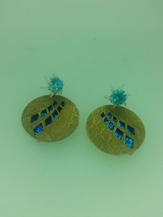 Earrings, inspired by the architecture of Glasgow (The SSE Hydro)
