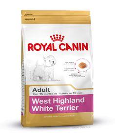 Alleinfuttermittel speziell für den ausgewachsenen #West #Highland #Terrier, auch #Westie genannt, ab dem 10. Monat. Die spezielle Rezeptur von WEST HIGHLAND TERRIER ADULT kann durch die Zufuhr von ausgewählten Aminosäuren wie auch spezieller, aus Borretschöl und Leinsamen gewonnener Fettsäuren, ein gesundes Fell und eine gesunde Haut unterstützen. http://www.royal-canin.de/hund/produkte/im-fachhandel/nahrung-fuer-rassehunde/ausgewachsene-rassehunde/west-highland-white-terrier-adult/