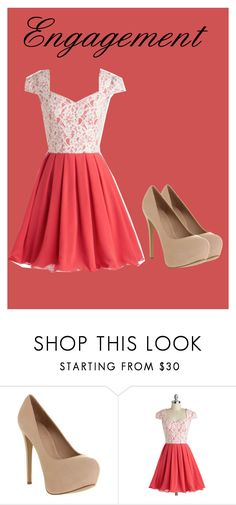 """""""Engagement"""" by onceandfuturequeen ❤ liked on Polyvore featuring Office and Chi Chi"""
