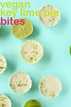7 Ingredient SUPER Creamy tart VEGAN Key Lime Pie Bites!
