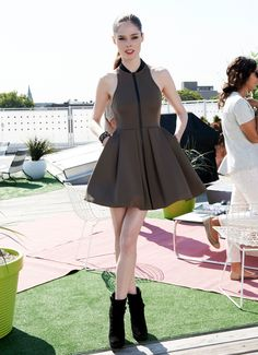 @Coco Rocha in a T by Alexander Wang dress.