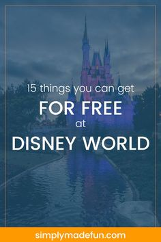 Want to plan ahead and save some money before heading to Florida? Click over to the blog for the full list of 15 FREE things at Disney World! via @simplymadefun