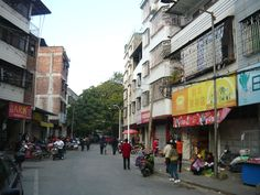 The urban 'Village' across the main road from the Federal Hotel.