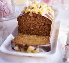 Date ginger malt loaf. A dark, sticky and lightly spiced cake that merges Jamaican ginger cake with sticky toffee pudding and malt loaf Jamaican Ginger Cake, Malt Loaf, Ginger Loaf, Sticky Toffee Pudding, Loaf Cake, Bbc Good Food Recipes, Sweet Bread, Cake Recipes, Loaf Recipes