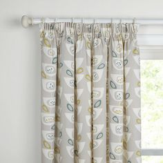 Buy John Lewis Seedheads Lined Pencil Pleat Curtains, Spruce, W167 x Drop 137cm Online at johnlewis.com