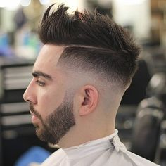 odyzzeuz mid fade line up spikes textured latest mens hairstyles 2018