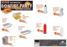 Remember, remember the 5th of November. Are you planning a Bonfire Party!  SCCUK stock catering equipment and food serving essentials - all at very competitive prices.  Pop along to our showrooms at 83 Lynch lane, Weymouth, Dorset DT4 9DN  FREE delivery in the local area - No minimum order  Tel: 01305 774488 (Opt 5)