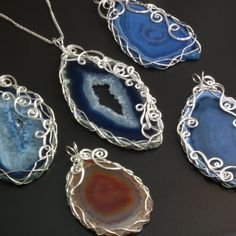 2 Pair Wire Wrap Tibet silver Dragon Natural Amethyst Earrings Y-73